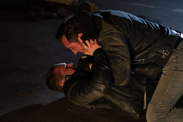 Martin and Keanu fight in EastEnders