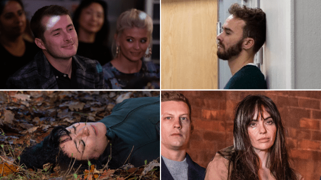 Ben Mitchell and Lola Pearce in EastEnders, David Platt in Coronation Street, Moira Dingle in Emmerdale, and John Paul and Mercedes McQueen in Hollyoaks