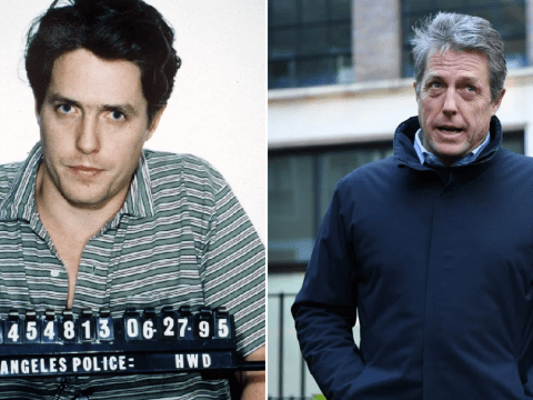 Hugh Grant shares his own notorious mugshot to make it easier for haters to troll him