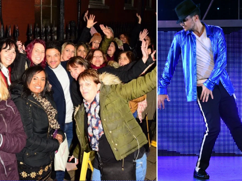 Peter Andre mobbed by delighted fans after starring as Michael Jackson in Thriller