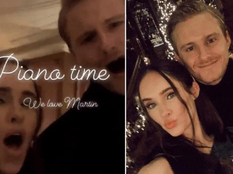 Vikings stars Alexander Ludwig and Kristy Dawn Dinsmore blast out Christmas carols on festive date night