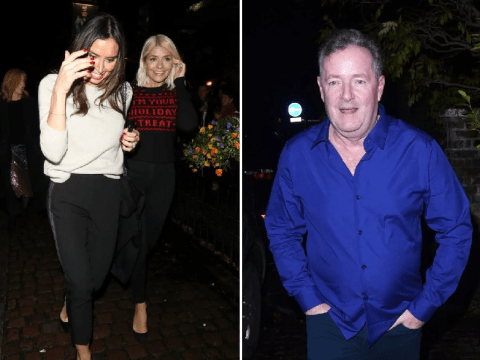 Holly Willoughby arrives at Piers Morgan's Christmas party without Phillip Schofield after denying rift