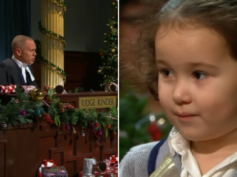 Judge Rinder's Christmas special sees kids in court and viewers can't deal with the cuteness
