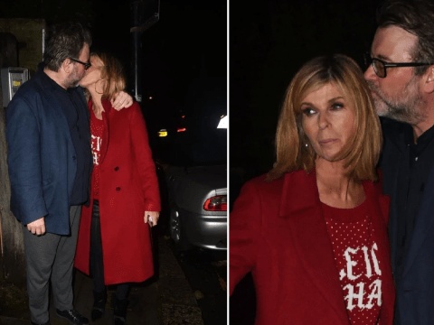 Kate Garraway looks loved up at Piers Morgan's Christmas party after sleeping through GMB return