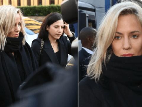 Caroline Flack pleads not guilty to assaulting boyfriend as she cries in dock