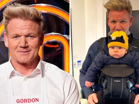 Gordon Ramsay's 8-month-old son Oscar looks cute as a button as he takes a day trip with dad