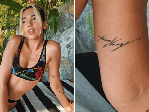 Dua Lipa announces album title with new tattoo and it's been in our faces the whole time