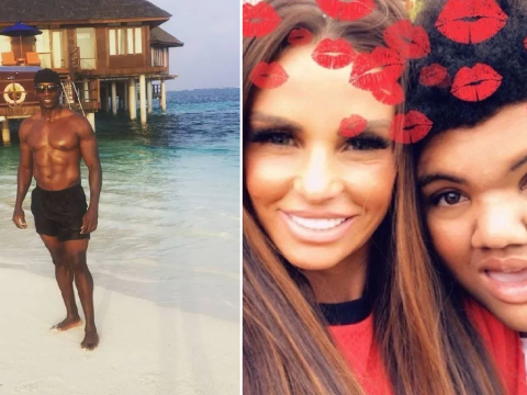 Dwight Yorke boasts of 'beautiful day' in the Maldives after Katie Price's plea for him to see Harvey