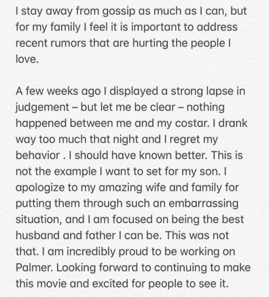 Justin Timberlake apology