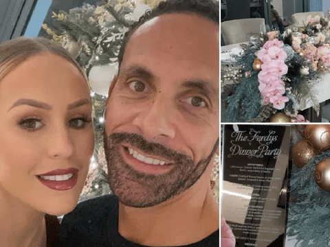 Kate and Rio Ferdinand throw the most lavish Christmas party as they prepare for first holiday as newlyweds