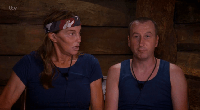 Caitlyn and Andy in I'm A Celebrity