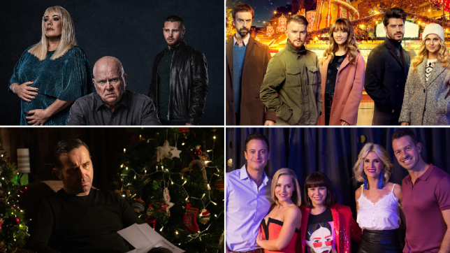Sharon Mitchell, Phil Mitchell and Keanu Taylor in EastEnders, Derek, Gary, Maria, Adam and Sarah in Coronation Street, Graham Foster in Emmerdale, and Luke, Cindy, Nancy, Mandy, and Darren in Hollyoaks