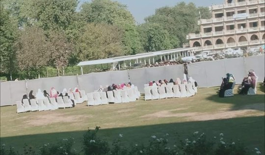 Female students 'forced to sit behind fence' for Saeed Anwar's speech