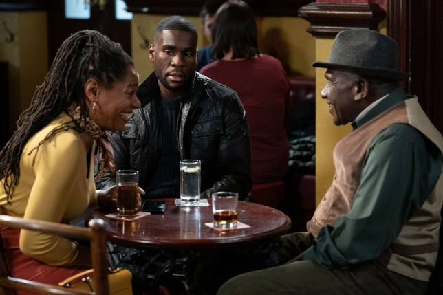Sheree, Patrick and Isaac in EastEnders