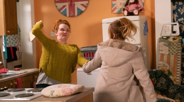 Fiz Stape and Jade Rowan in Coronation Street