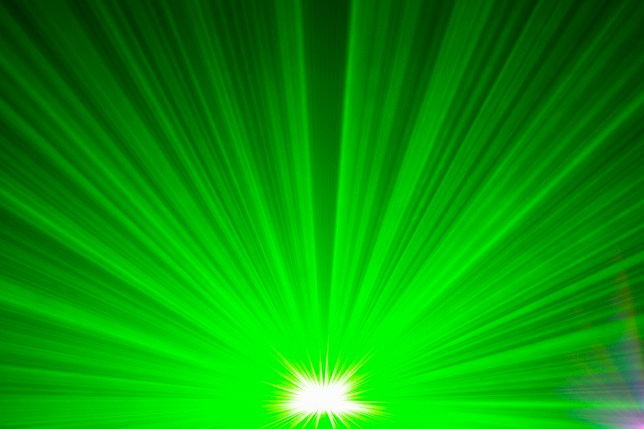 Green laser light