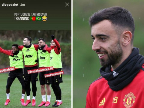 'Portuguese taking over!' – Bruno Fernandes impresses in first Manchester United training session