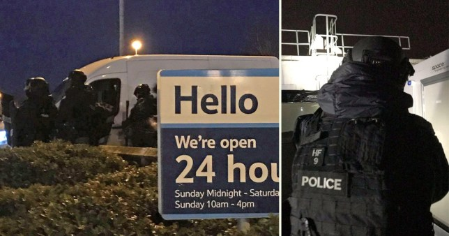 Armed police called after reports of gunman on Tesco roof