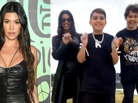 Kourtney Kardashian's son Mason wins the internet as he coaches mum and David Dobrik on TikTok