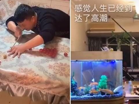Indoor fishing and face mask poker keep coronavirus 'captives' busy