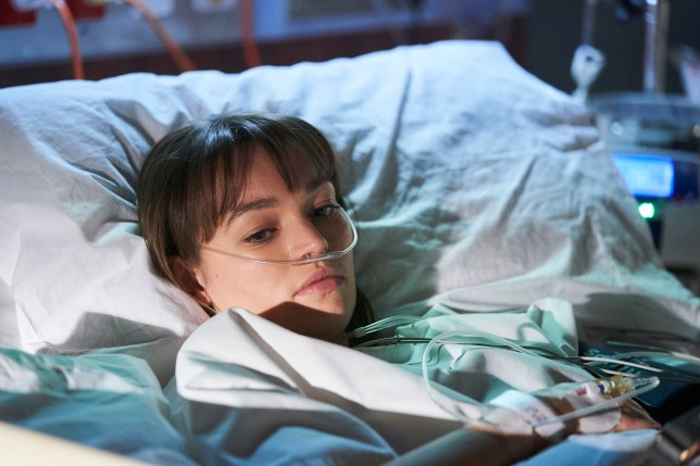 Bella in hospital in Home and Away