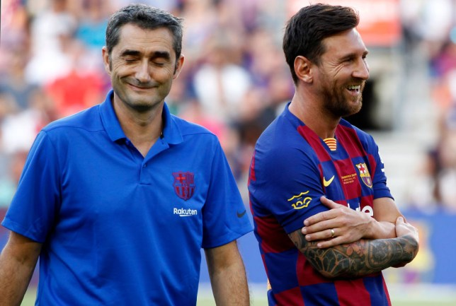 Lionel Messi has paid tribute to former Barcelona boss Ernesto Valverde