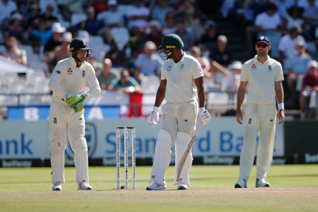Jos Buttler clashed with Vernon Philander during the Cape Town Test