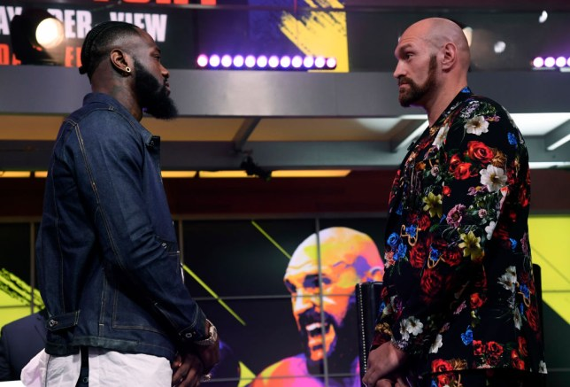Deontay Wilder faces off with Tyson Fury ahead of their heavyweight rematch