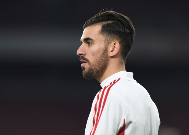 Dani Ceballos is pictured during Arsenal training
