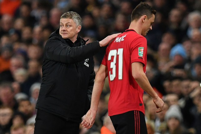 Manchester United boss Ole Gunnar Solskjaer was delighted with Nemanja Matic's display against Manchester City