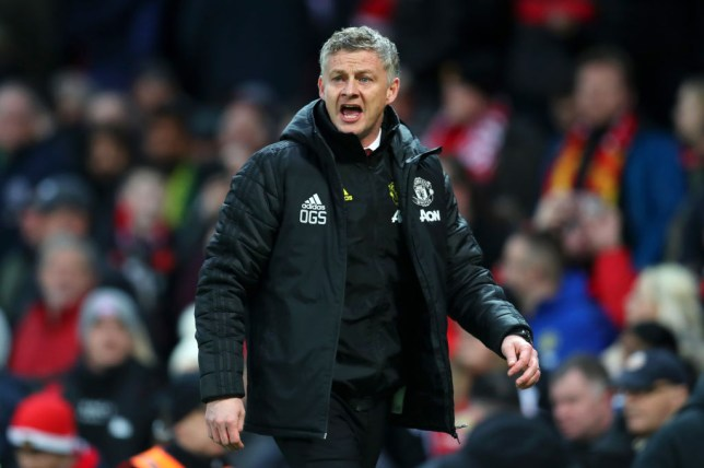 Manchester United manager Ole Gunnar Solskjaer shouts from the sidelines