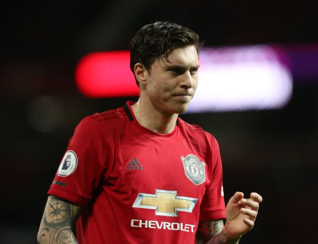 Victor Lindelof of Manchester United walks off after the Premier League match between Manchester United and Norwich City at Old Trafford on January 11, 2020 in Manchester, United Kingdom.