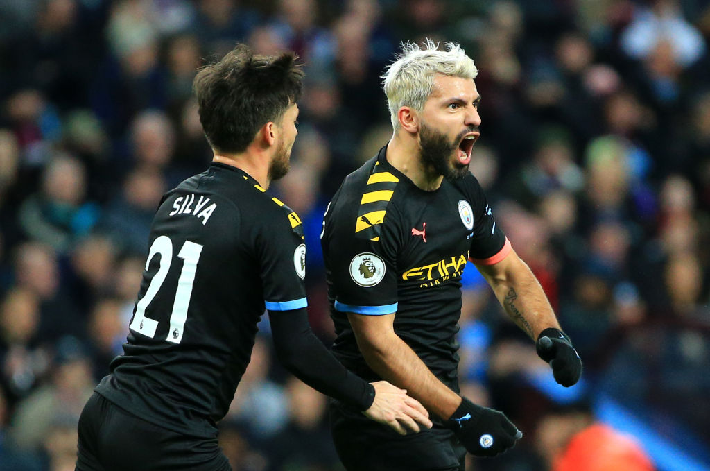 Manchester City Thrash Aston Villa With Aguero's Record Breaking Hat Trick