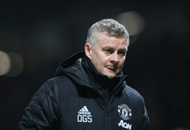 Ole Gunnar Solskjaer is pictured during a Manchester United game
