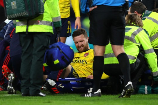 Mustafi went down with an ankle injury at Dean Court