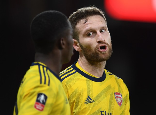 Shkodran Mustafi suffered an ankle injury during Monday's win over Bournemouth