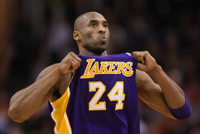 The late Los Angeles Lakers player Kobe Bryant