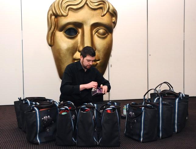 Bafta gift bags