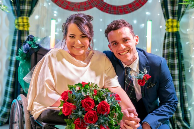 Jesse Donovan and Courtney Campbell in Hollyoaks