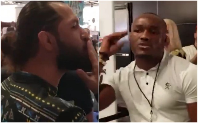 UFC stars Jorge Masvidal and Kamaru Usman in angry bust-up at a Super Bowl event