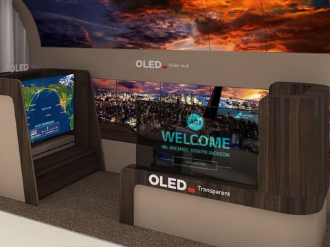 LG built a 65-inch 'rollable TV' that unfurls itself from the ceiling