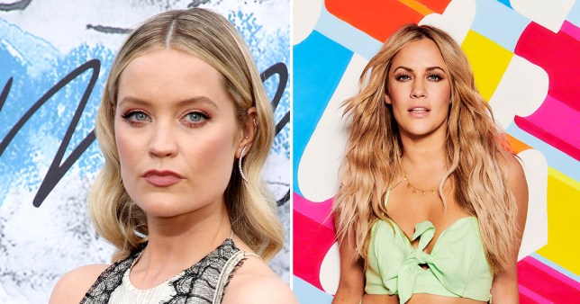 Love Island's Laura Whitmore and Caroline Flack