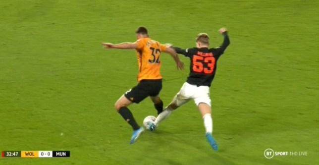 Manchester United were denied a penalty in their FA Cup clash against Wolves