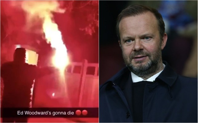 Manchester United supporters targeted Ed Woodward's home in Cheshire