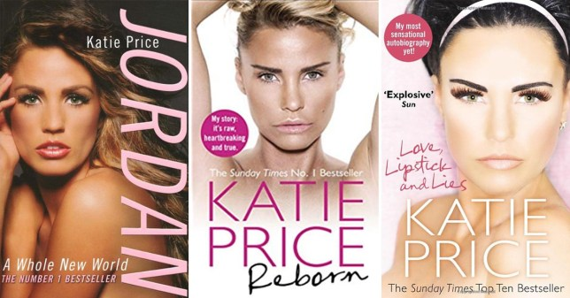 Katie Price's tell-all books