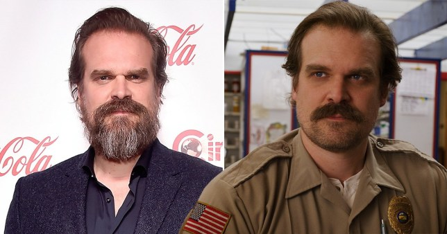 David HArbour and Jim Hopper in Stranger Things