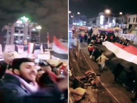 Dancing on the streets of Baghdad after killing of top Iranian general