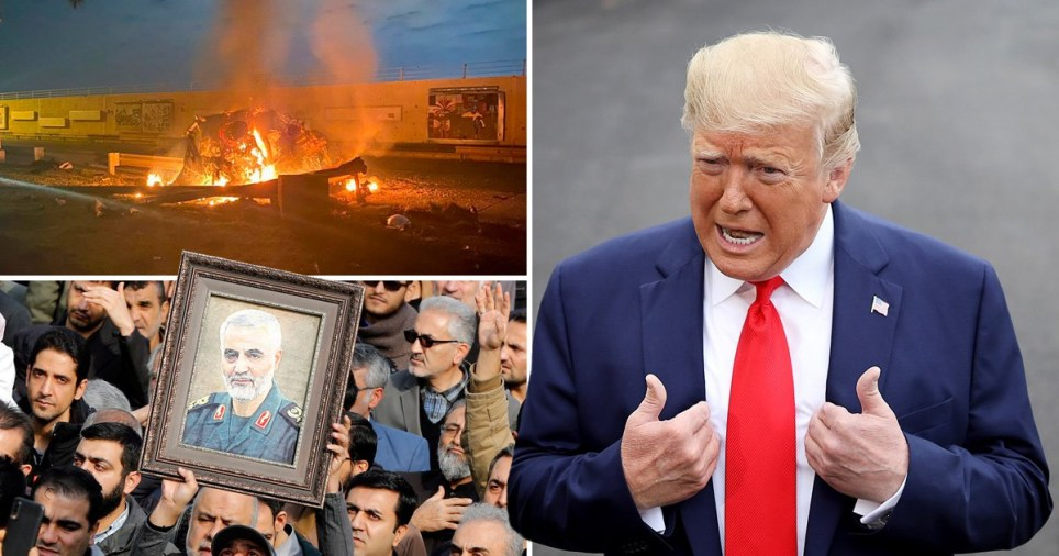 US airstrike at Baghdad International Airport, protesters against the assassination of Qasem Soleimani and US President Donald Trump