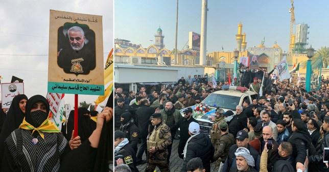Qassem Soleimanifuneral in Baghdad