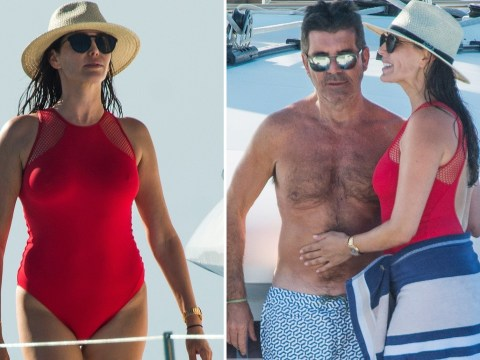 Simon Cowell cosies up to girlfriend Lauren Silverman on swanky Barbados holiday with son Eric